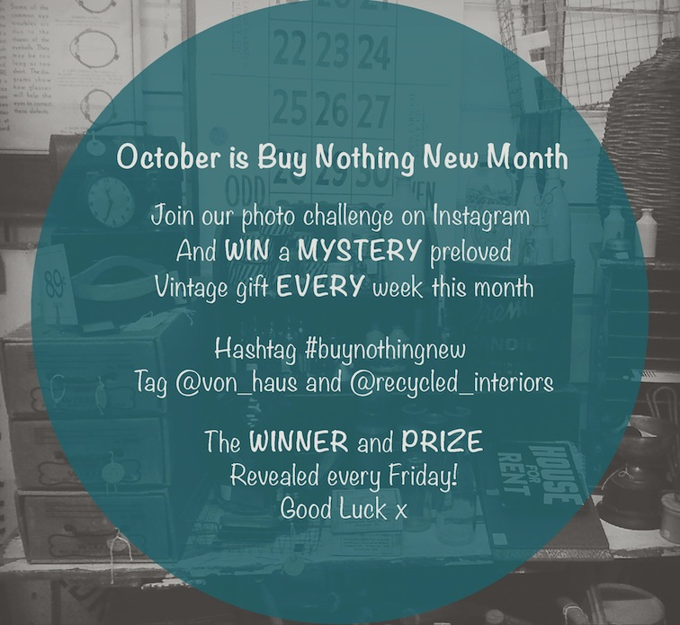 Buy Nothing New Month Photo Challenge