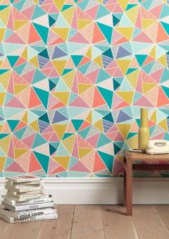 On Trend: Geometric Wallpaper